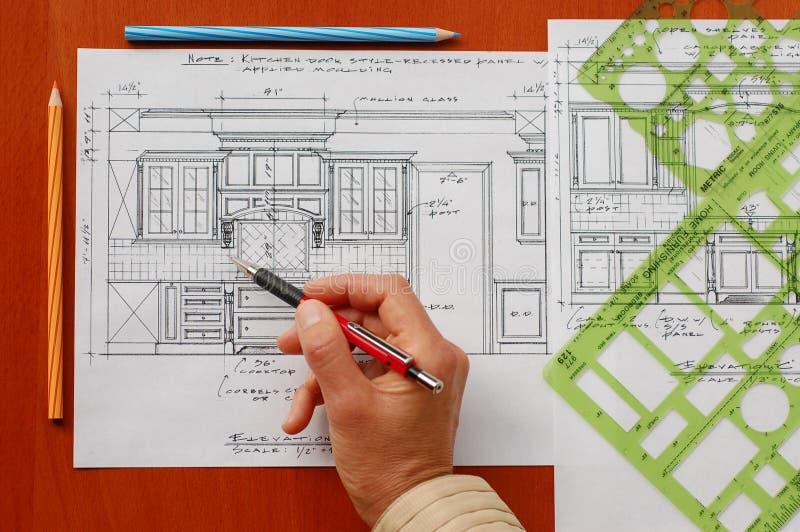 Dibujos de estudio interior imagen de archivo libre de regalías