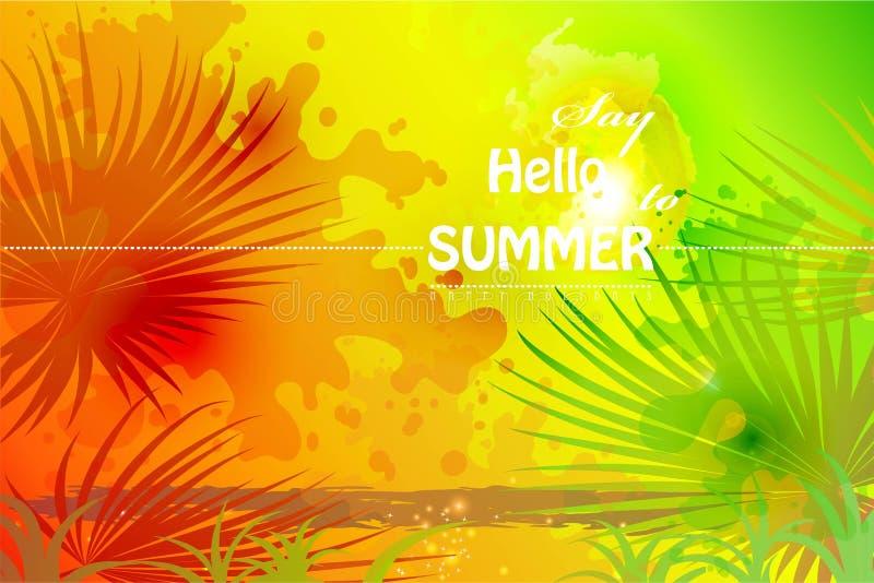 Download Dica ciao all'estate illustrazione vettoriale. Illustrazione di incandescenza - 55357500