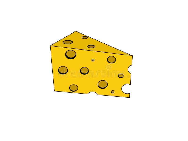 Dica il formaggio illustrazione vettoriale