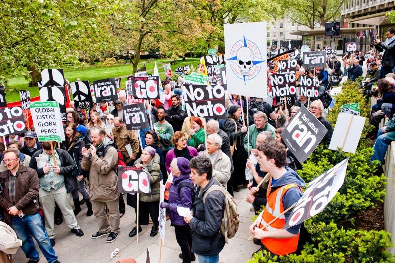 Dica no alla protesta di NATO fotografie stock libere da diritti