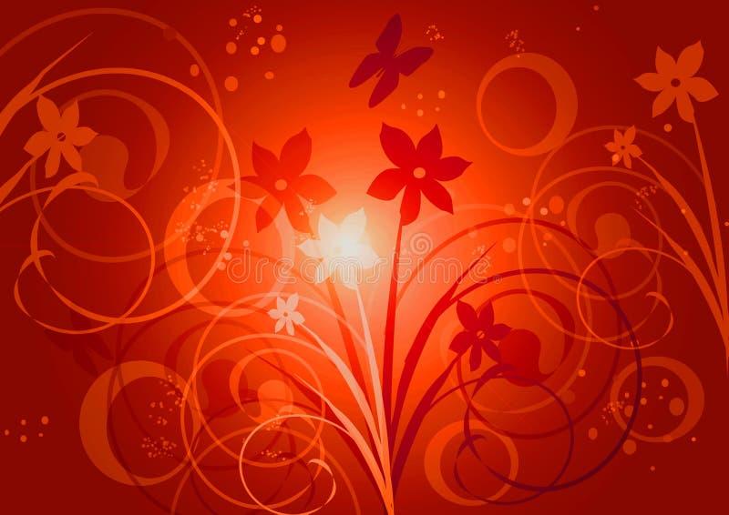 Dicala con i fiori illustrazione vettoriale