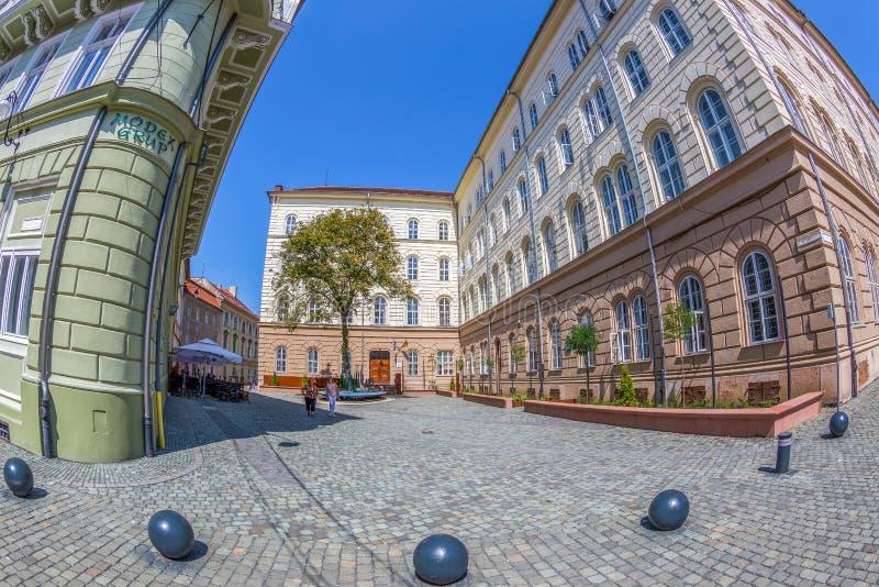Dicasterial pałac i stary budynek, lokalizować przy rozdroże obrazy stock