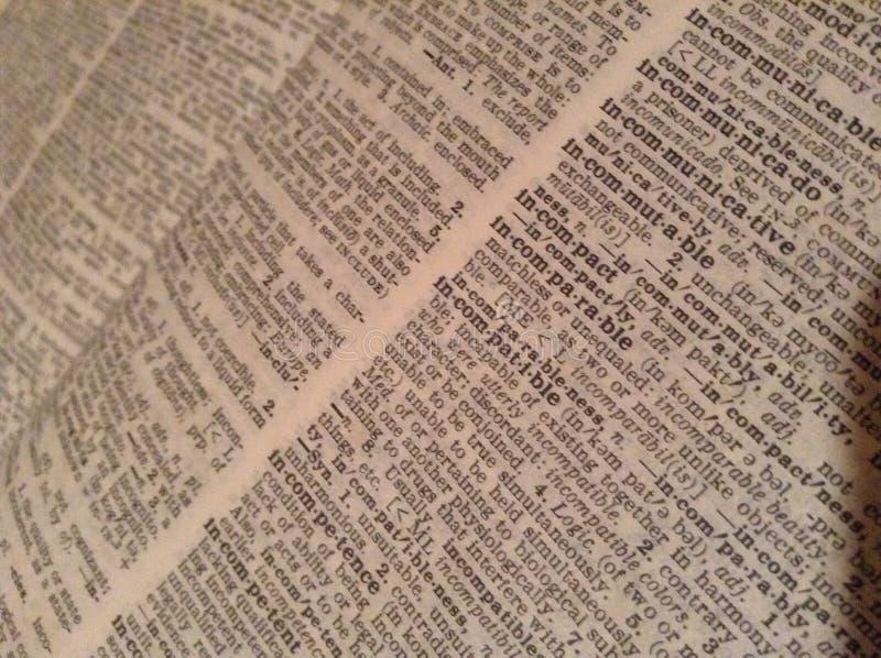 Diccionario imagen de archivo