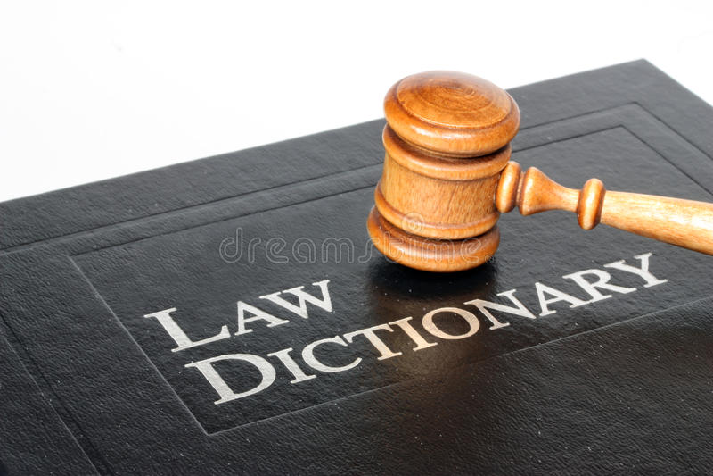 Diccionario de la ley fotos de archivo