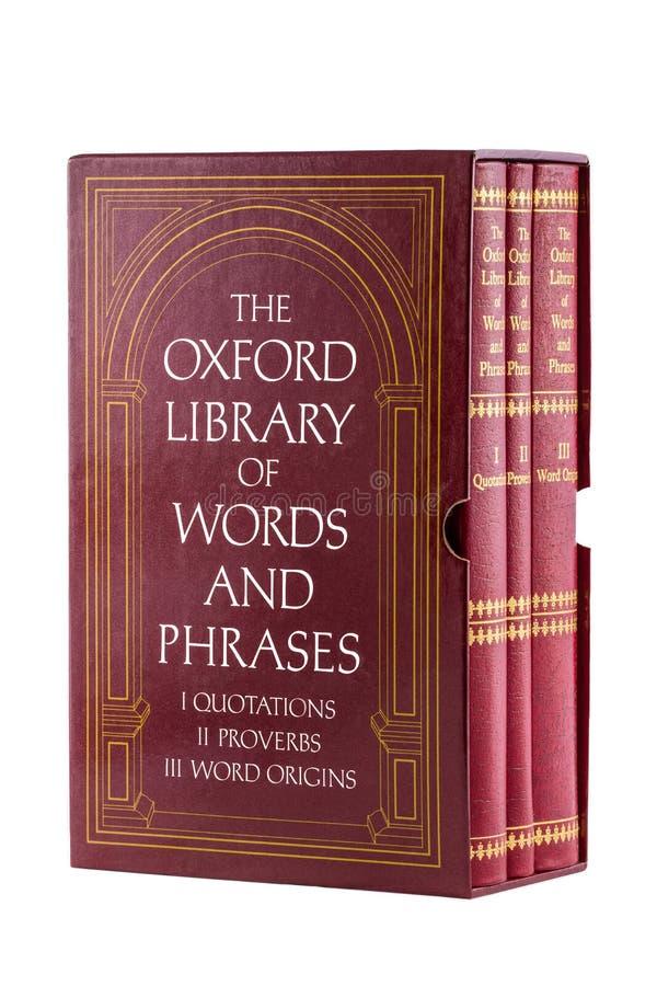 Diccionario de Oxford imágenes de archivo libres de regalías