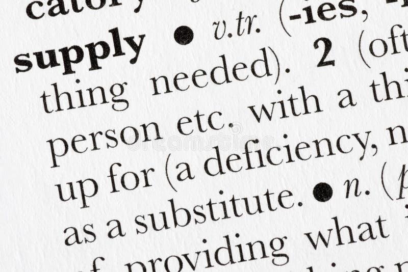 Diccionario de palabra de la fuente definido foto de archivo libre de regalías