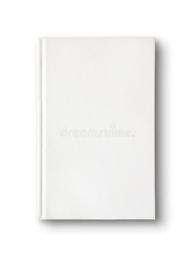 Diccionario en blanco cerrado, libro aislado en blanco fotos de archivo