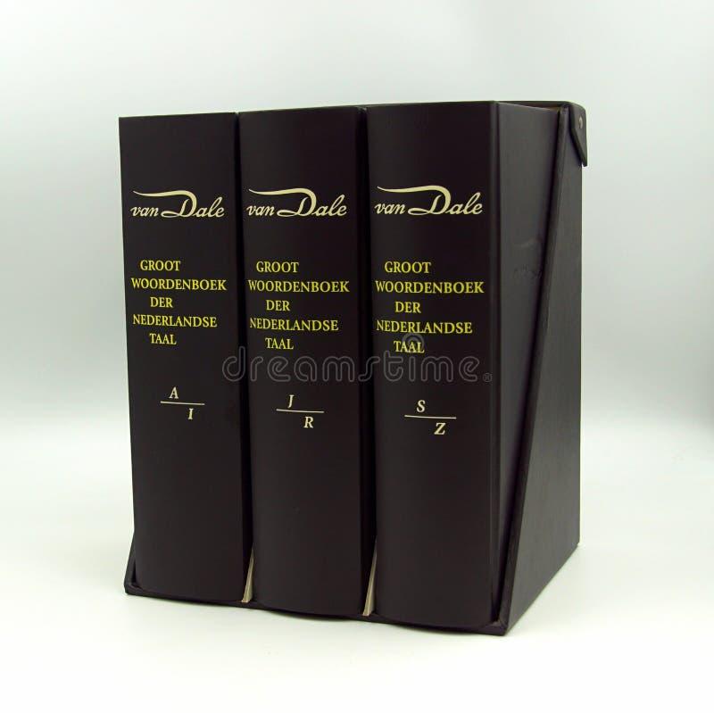 Diccionario holandés Van Dale fotografía de archivo