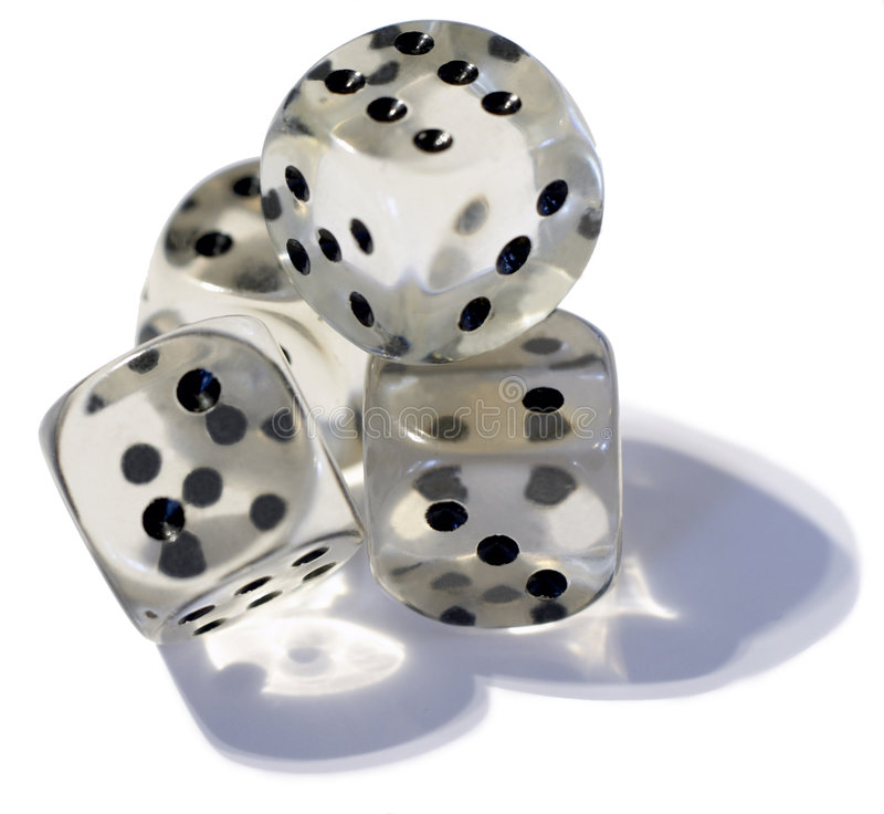 Dice. On white background stock images