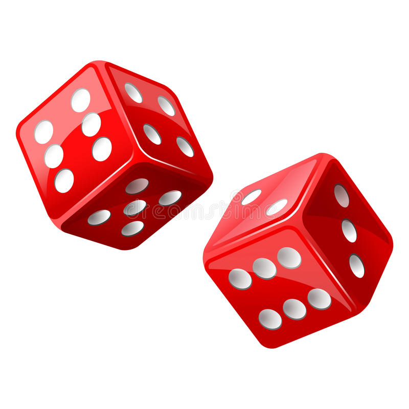 Dice. Illustration of red dice icon