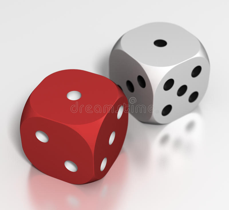 Free Dice: 2 Ones Stock Image - 13410801