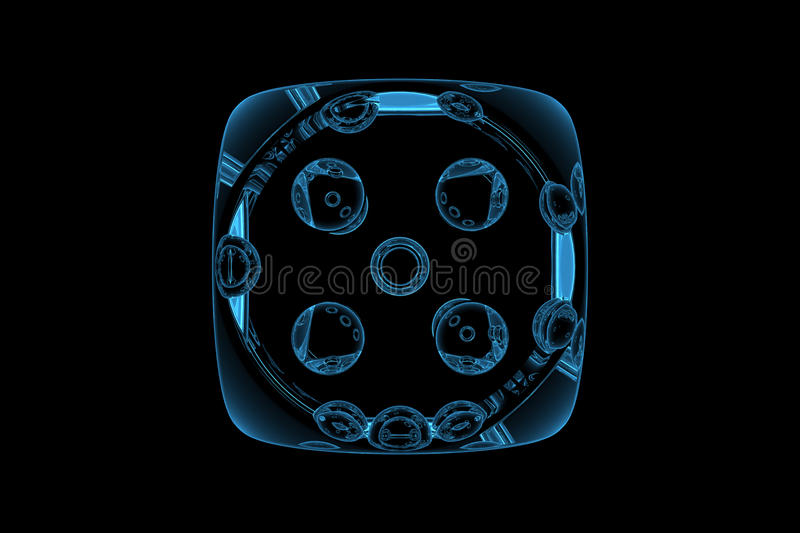 Download Dice stock illustration. Image of glass, clear, pair - 26612727