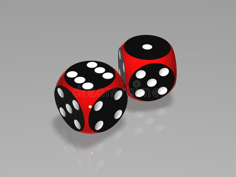 Dice 3D Stock Photography