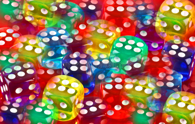 Dice abstract. An abstract made from plastic dice stock image