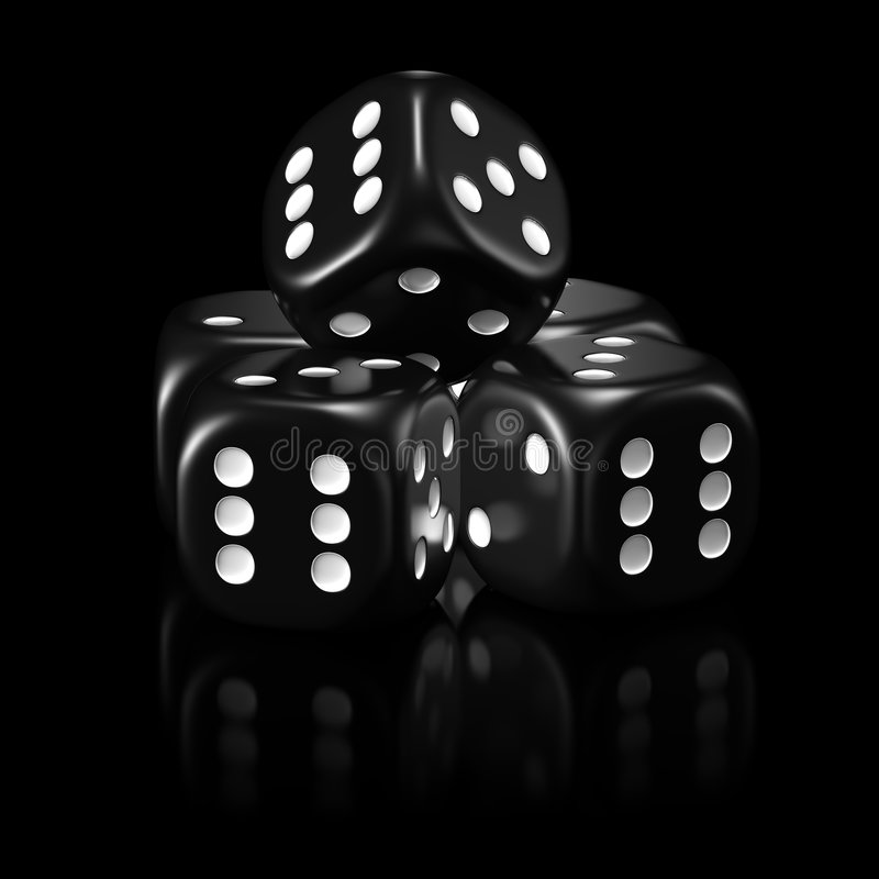 Dice black set stock image