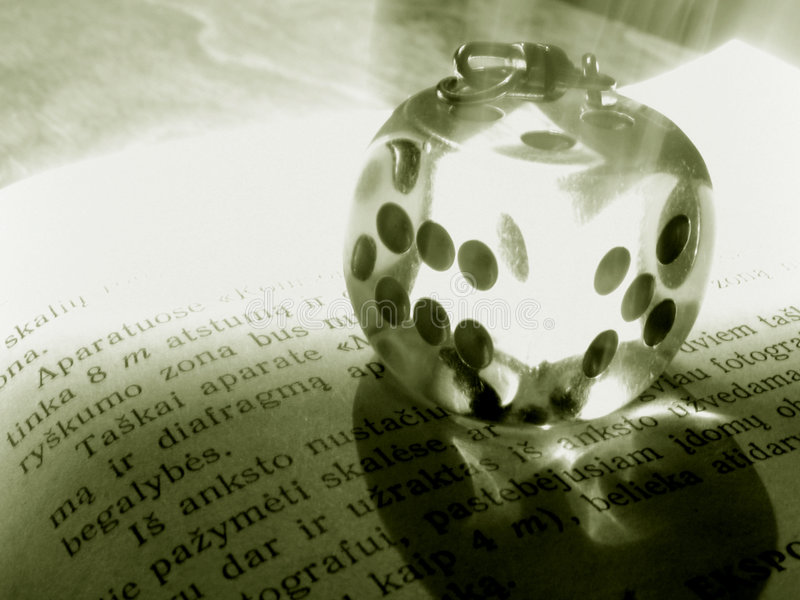 Download Dice on a book stock photo. Image of gamble, dice, scissors - 73634