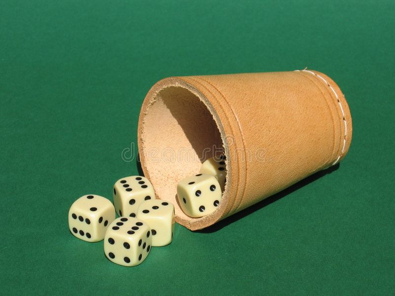 Dice Box stock image