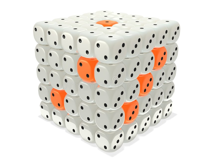 Dice box royalty free stock photo