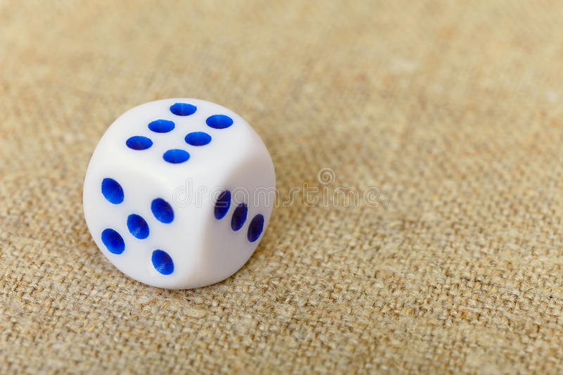 Dice On Canvas Royalty Free Stock Photo