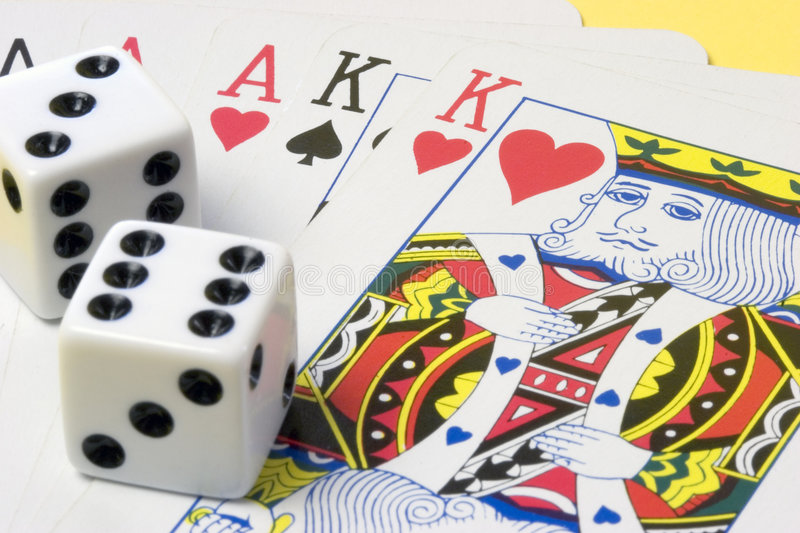 Dice Cards stock image
