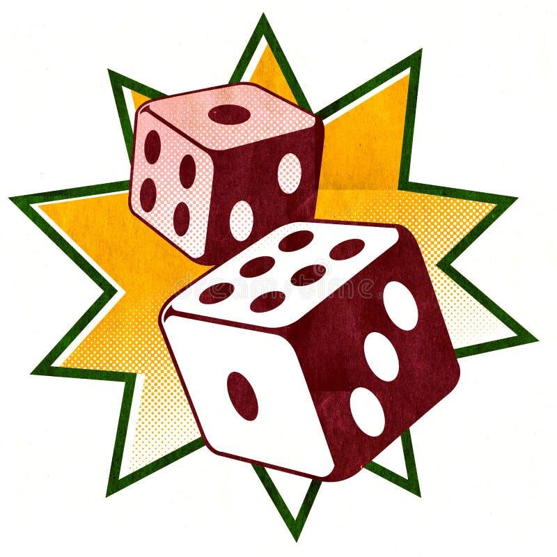 Dice - Casino illustration stock images