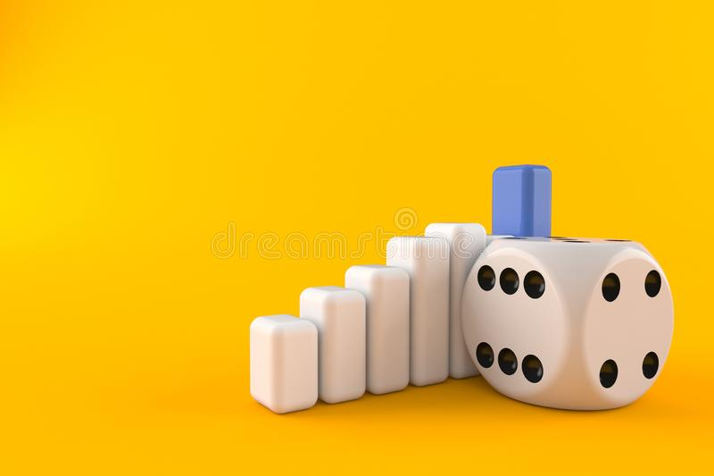 Dice with chart royalty free illustration