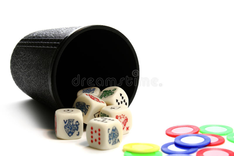 Dice And Chips Royalty Free Stock Images