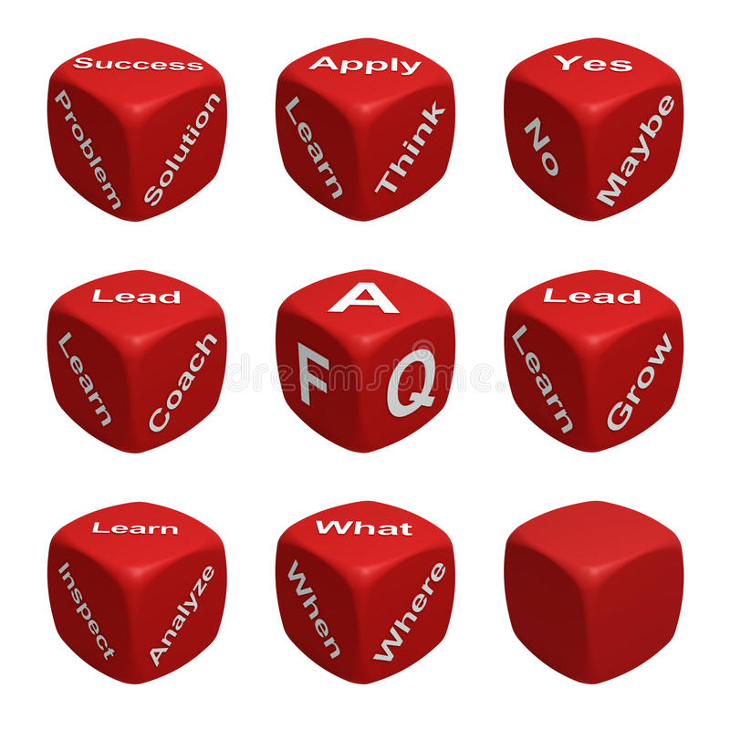 Dice Collection Four - Learning stock illustration