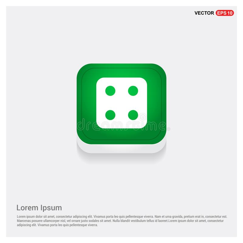 Dice Cube Icon. This Vector EPS 10 illustration is best for print media, web design, application design user interface and infographics with well composed stock illustration