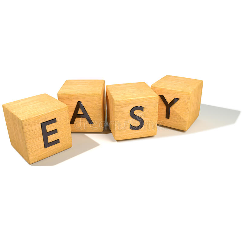 Dice and Easy. Or make it simple royalty free stock images