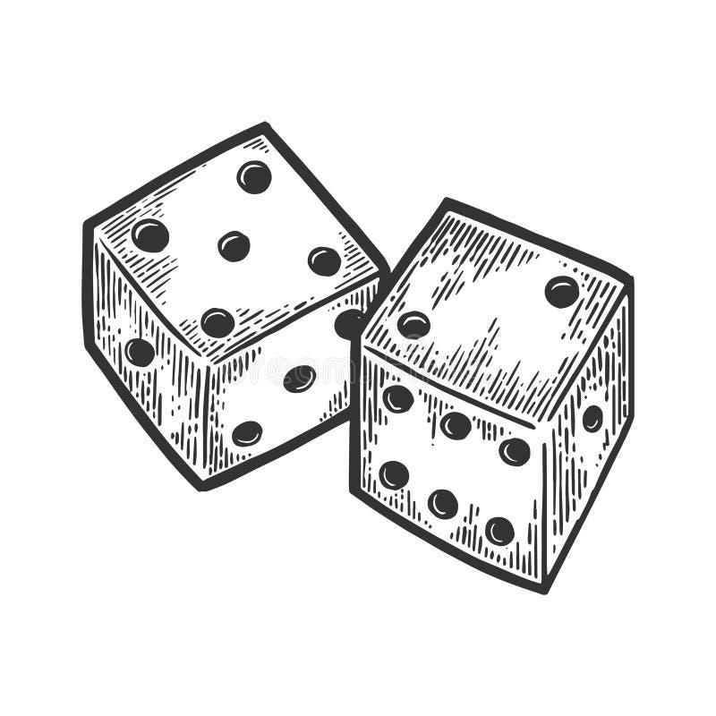 Dice engraving vector illustration vector illustration