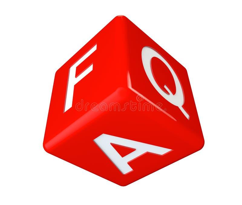 Dice faq icon cube royalty free illustration
