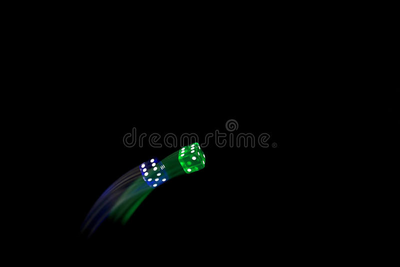 Dice Flying royalty free stock photography