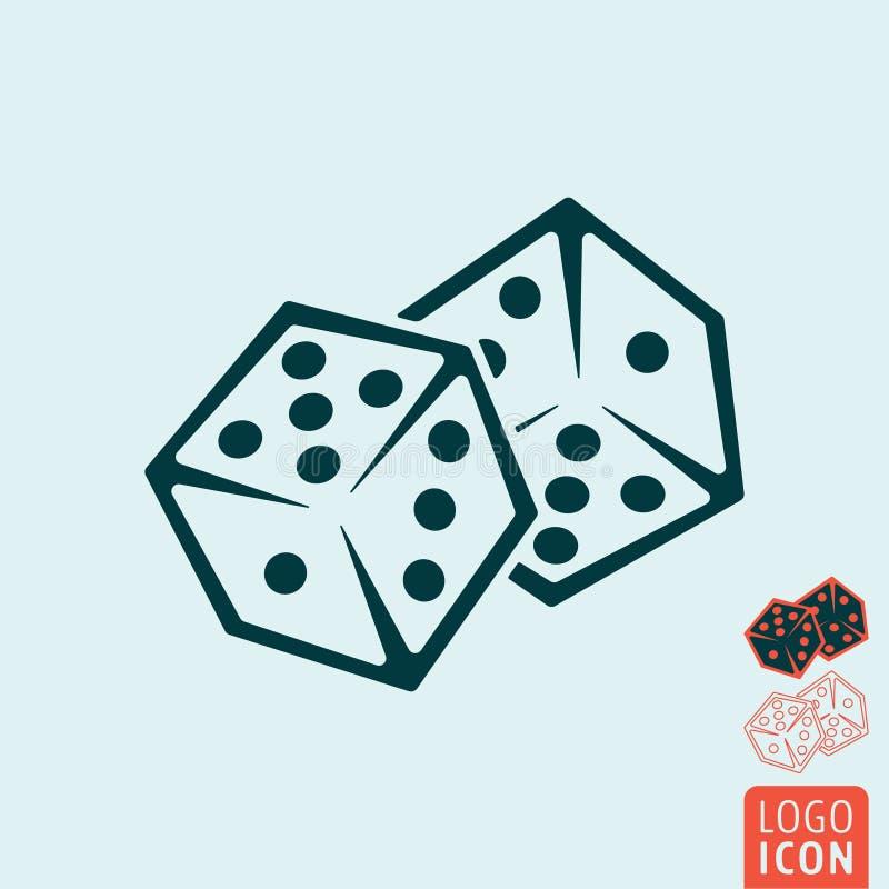 Dice game icon royalty free illustration