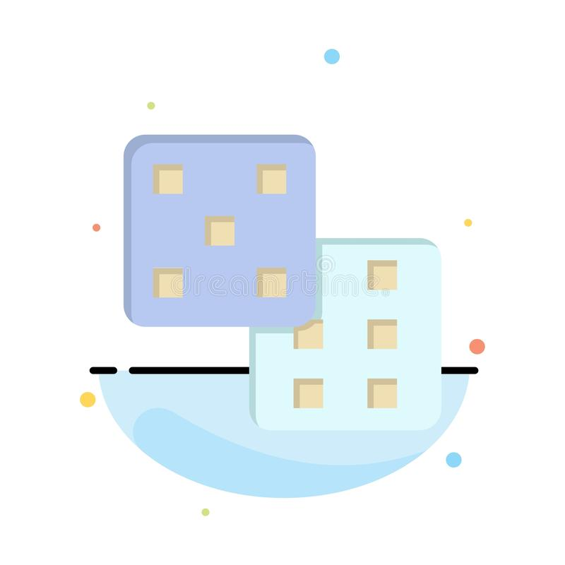 Dice, Gaming, Probability Abstract Flat Color Icon Template vector illustration