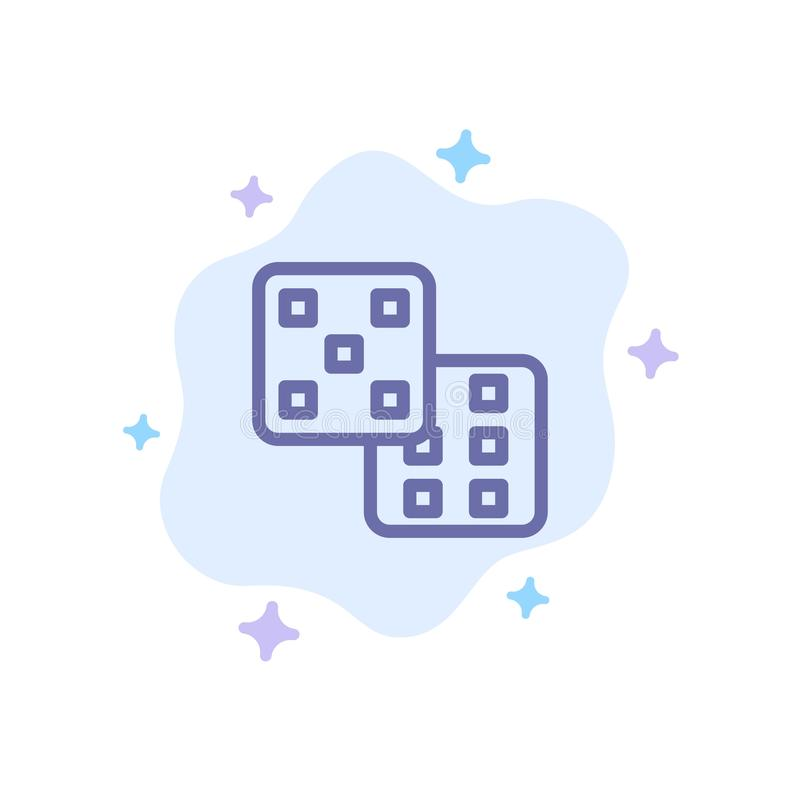Dice, Gaming, Probability Blue Icon on Abstract Cloud Background vector illustration