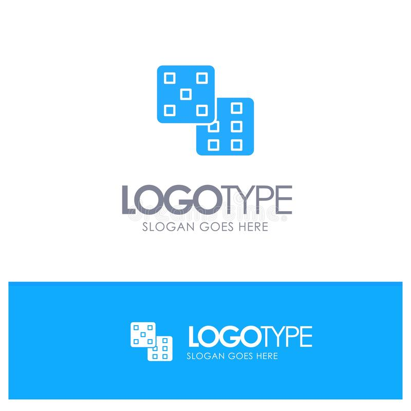 Dice, Gaming, Probability Blue Logo vector royalty free illustration