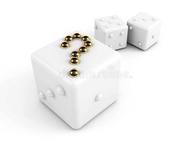 Download Dice With Gold Question-mark Stock Illustration - Image: 10519721
