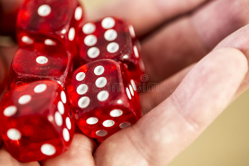 Dice In The Hand Stock Photos