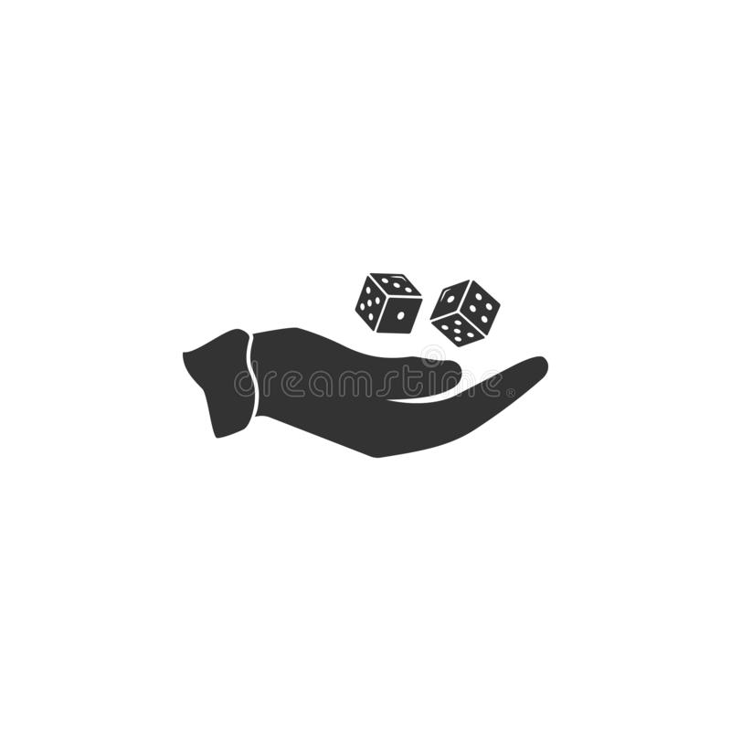 Dice hand icon. Element of airport icon for mobile concept and web apps. Detailed Dice hand icon can be used for web and mobile royalty free illustration