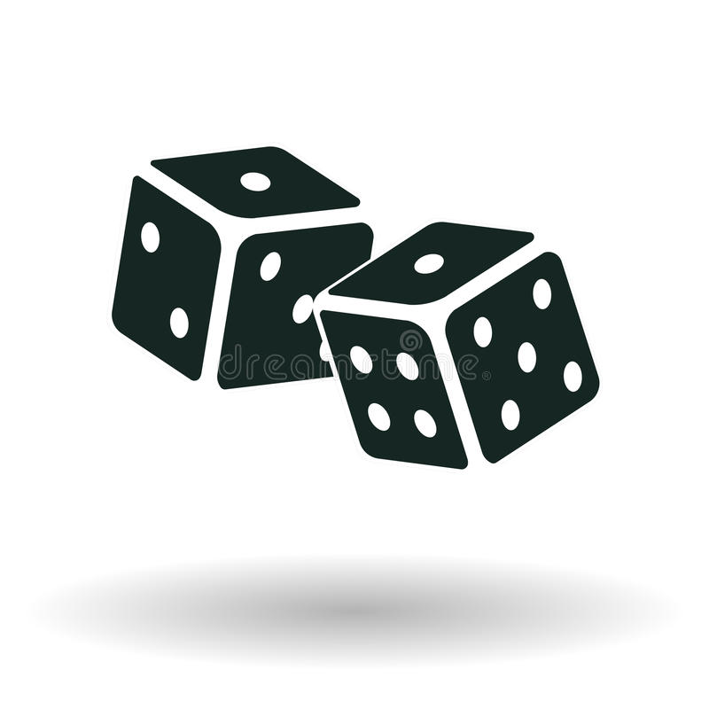 Dice icon monochrome royalty free stock photos