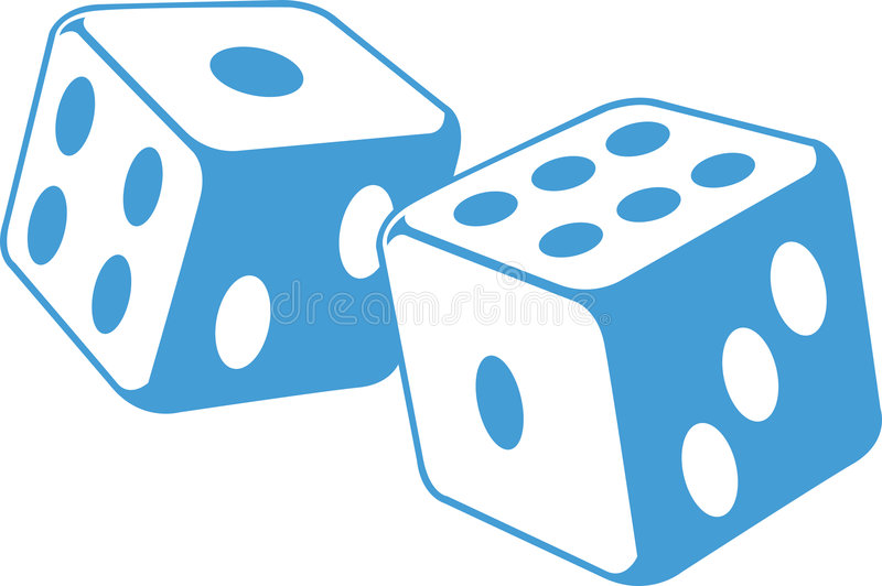 Dice illustration. An illustration of a pair dice in motion stock illustration