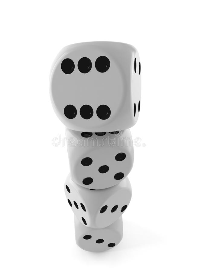 Dice. Isolated on white background royalty free illustration