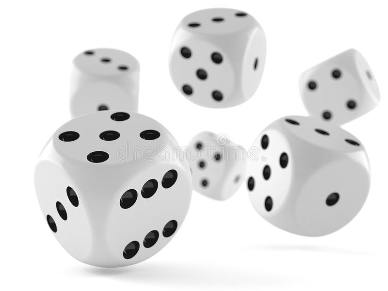 Dice. Isolated on white background stock illustration