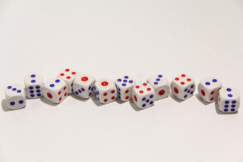 Dice isolated on white background royalty free stock images