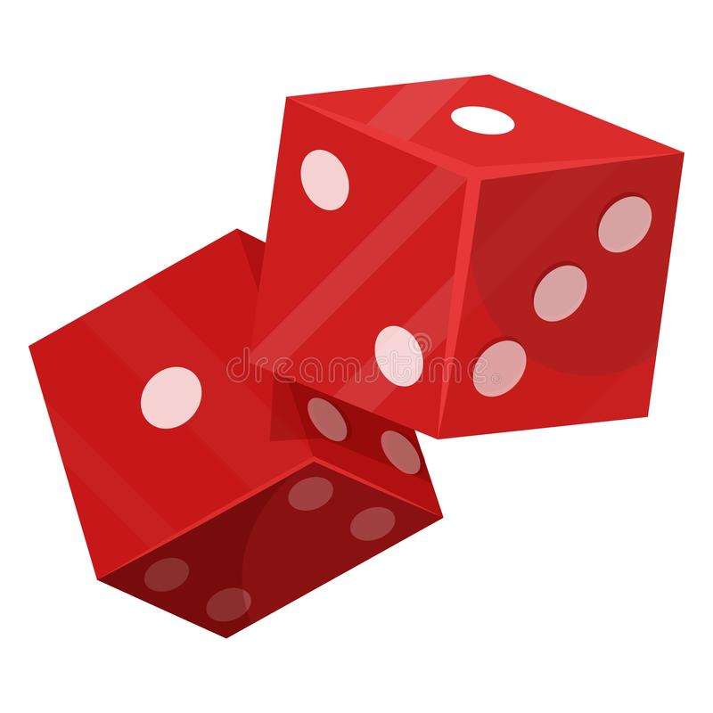 Dice luck game icon, gambling and betting royalty free illustration