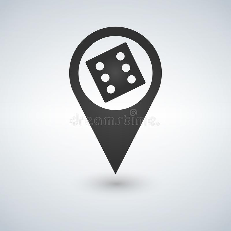 Dice Map Pointer . Vector illustration style is flat iconic symbols. Designed for apps. Dice Map Pointer . Vector illustration style is flat iconic symbols stock images