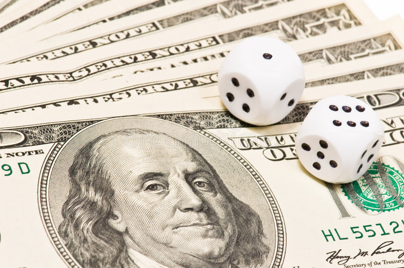 Download Dice On Money Royalty Free Stock Photography - Image: 8349677