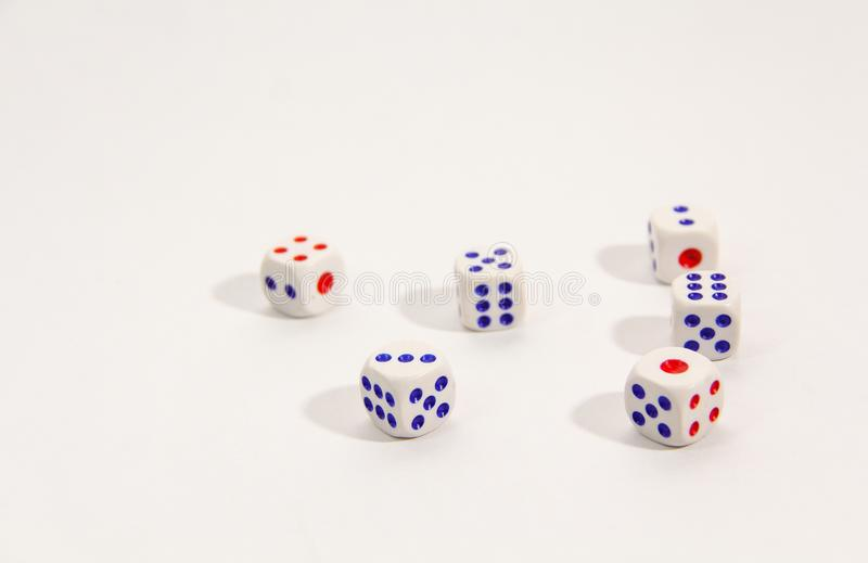 Dice isolated on white background royalty free stock photo