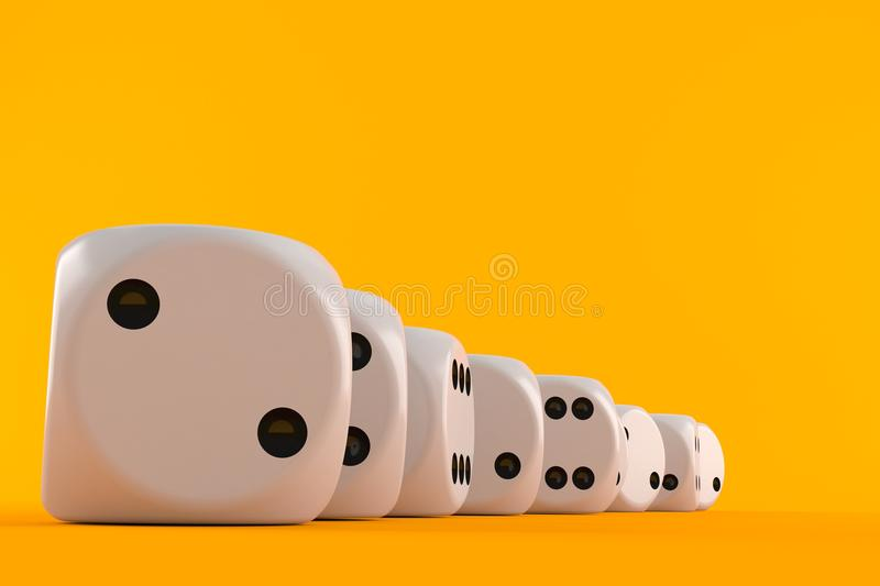 Dice. On orange background royalty free illustration